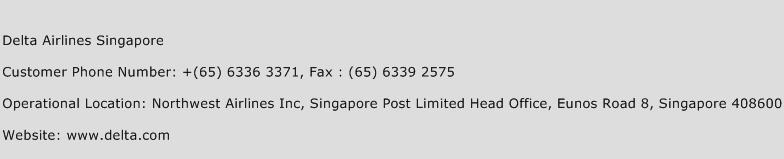 Delta Airlines Singapore Number Delta Airlines Singapore