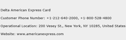 Delta American Express Card Phone Number Customer Service