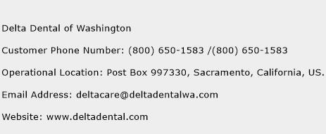 Delta Dental Of Washington Number Delta Dental Of