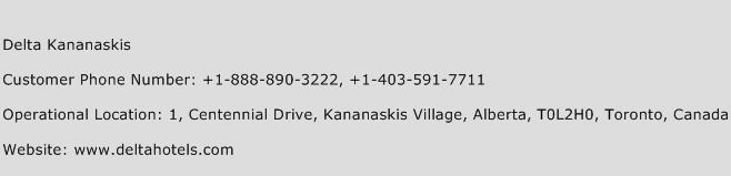 Delta Kananaskis Phone Number Customer Service