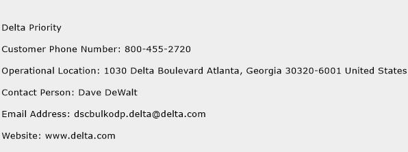 Delta Priority Phone Number Customer Service