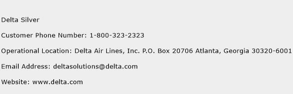 Delta Silver Phone Number Customer Service
