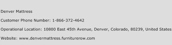 Denver Mattress Phone Number Customer Service