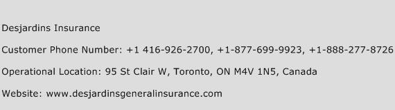 Desjardins Insurance Phone Number Customer Service