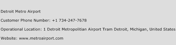 Detroit Metro Airport Phone Number Customer Service
