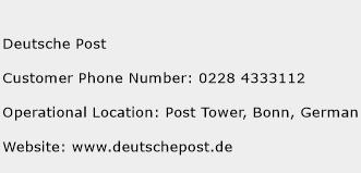 Deutsche Post Phone Number Customer Service