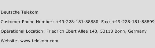 Deutsche Telekom Phone Number Customer Service