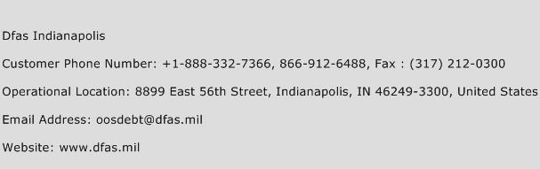 Dfas Indianapolis Phone Number Customer Service