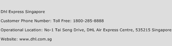 Dhl Express Singapore Phone Number Customer Service