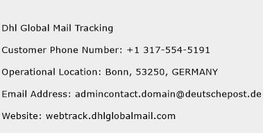 Dhl Global Mail Tracking Phone Number Customer Service