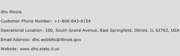 Dhs Illinois Phone Number Customer Service