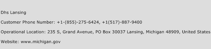 Dhs Lansing Phone Number Customer Service