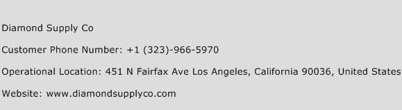 Diamond Supply Co Phone Number Customer Service