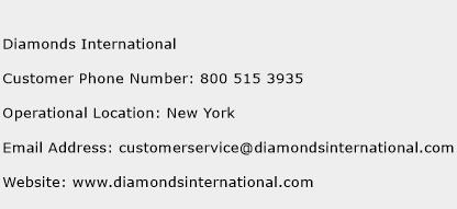 Diamonds International Phone Number Customer Service