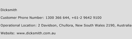 Dicksmith Phone Number Customer Service