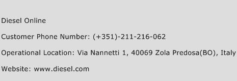 Diesel Online Phone Number Customer Service