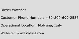 Diesel Watches Phone Number Customer Service