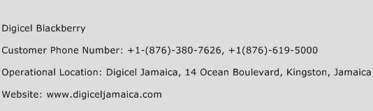 Digicel Blackberry Phone Number Customer Service