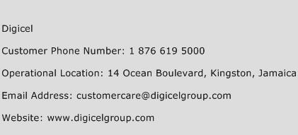 Digicel Phone Number Customer Service