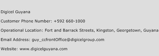 Digicel Guyana Phone Number Customer Service