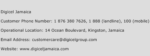 Digicel Jamaica Phone Number Customer Service