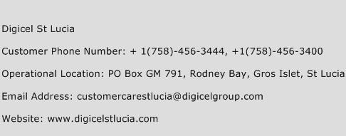 Digicel St Lucia Phone Number Customer Service