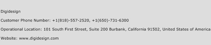 Digidesign Phone Number Customer Service