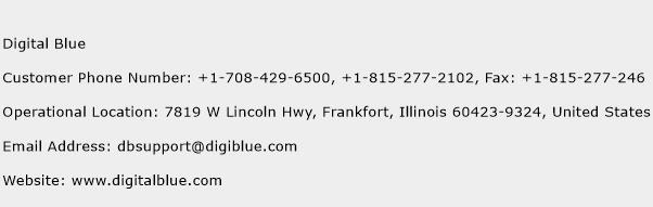 Digital Blue Phone Number Customer Service