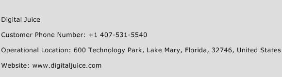 Digital Juice Phone Number Customer Service