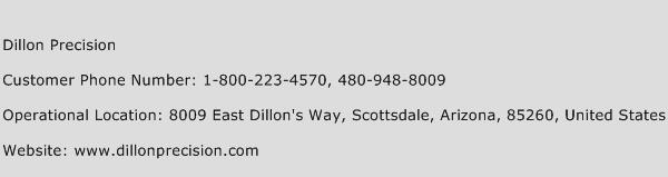 Dillon Precision Phone Number Customer Service