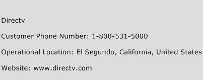 DirecTV Phone Number Customer Service