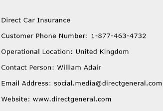 Direct Car Insurance Phone Number Customer Service