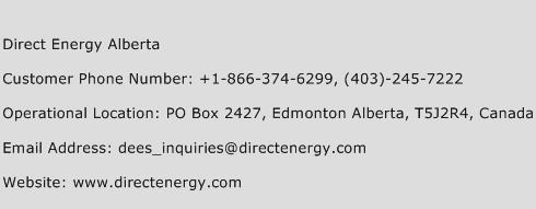 Direct Energy Alberta Phone Number Customer Service