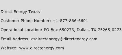 Direct Energy Texas Phone Number Customer Service