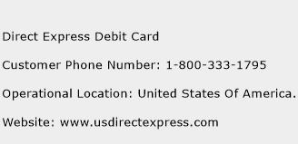 Direct Express Debit Card Phone Number Customer Service