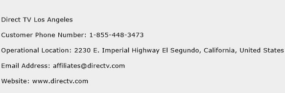 Direct TV Los Angeles Phone Number Customer Service