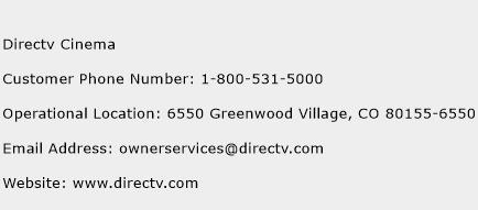 Directv Cinema Phone Number Customer Service