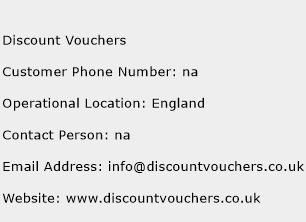 Discount Vouchers Phone Number Customer Service