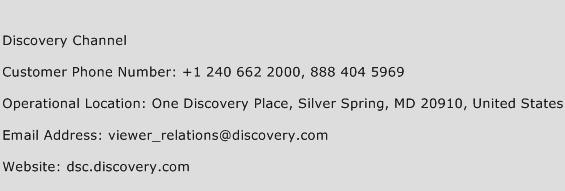 Discovery Channel Phone Number Customer Service