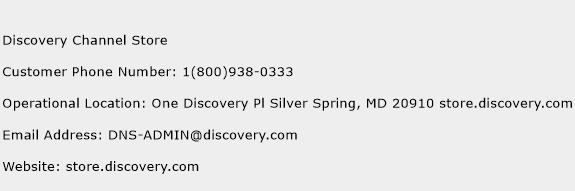 Discovery Channel Store Phone Number Customer Service