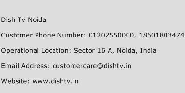Dish TV Noida Phone Number Customer Service