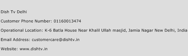 Dish Tv Delhi Phone Number Customer Service