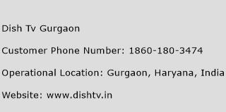 Dish Tv Gurgaon Phone Number Customer Service