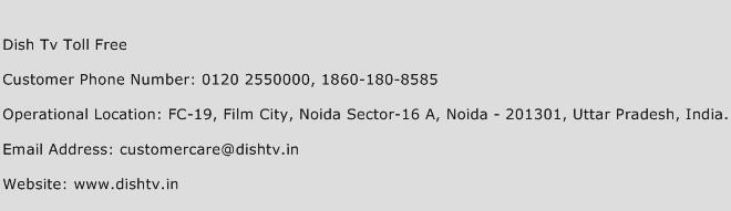 Dish Tv Toll Free Phone Number Customer Service