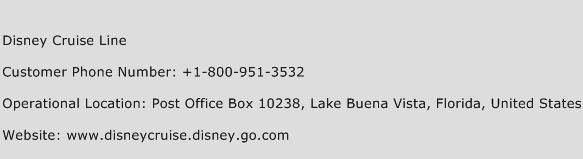 Disney Cruise Line Phone Number Customer Service