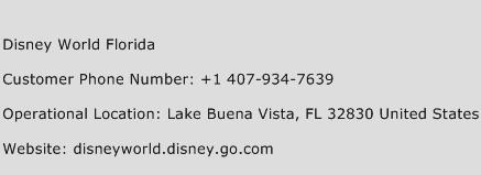 Disney World Florida Phone Number Customer Service