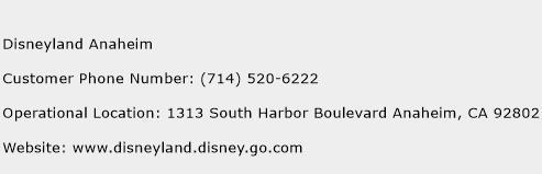 Disneyland Anaheim Phone Number Customer Service