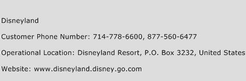 Disneyland Phone Number Customer Service