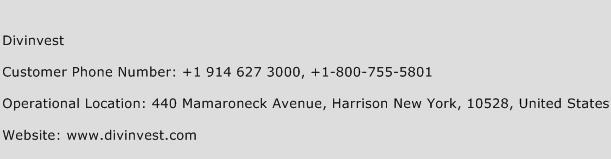Divinvest Phone Number Customer Service