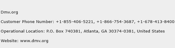 Dmv.org Phone Number Customer Service